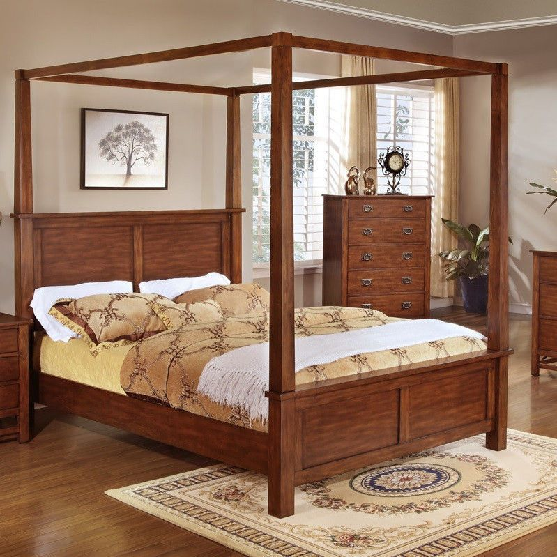 Canopy Bed King Size King Bedroom Furniture Bed Frame With Corner
