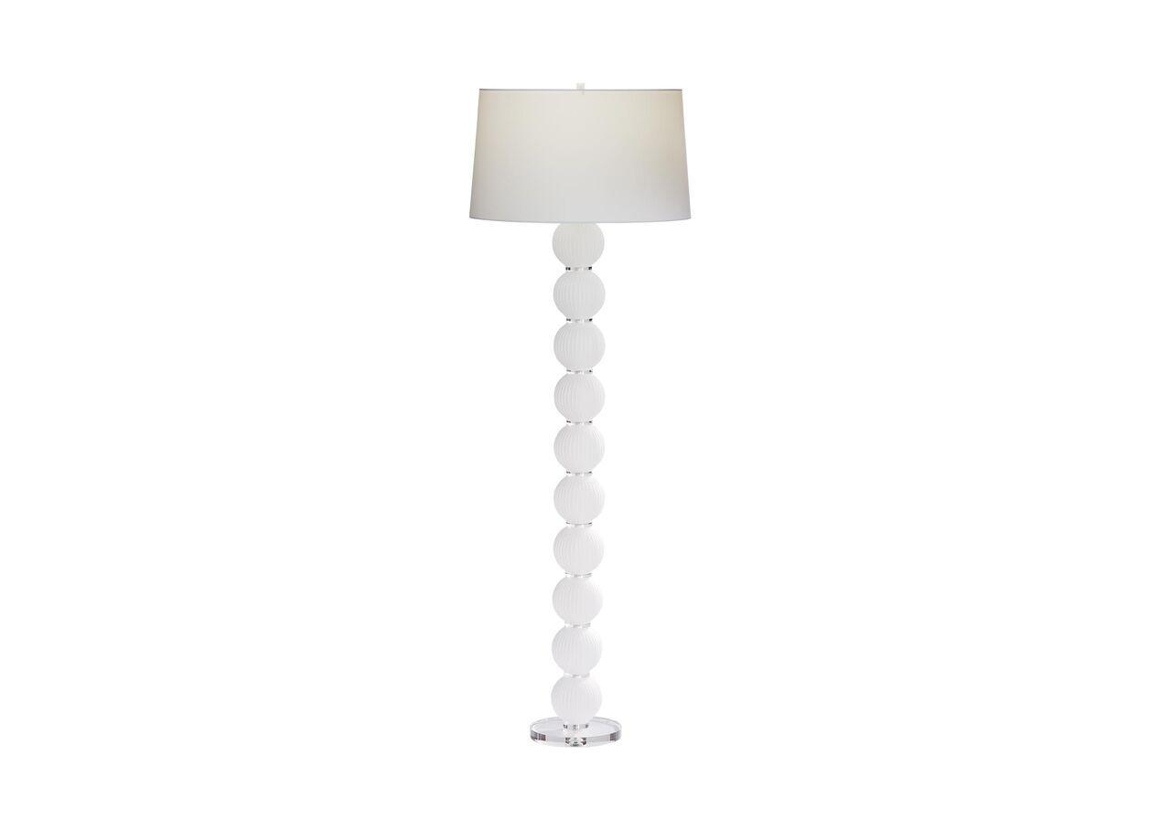 Mareena Stacked Glass Ball Floor Lamp Midcentury Floor Lamp Lamp Glass Ball