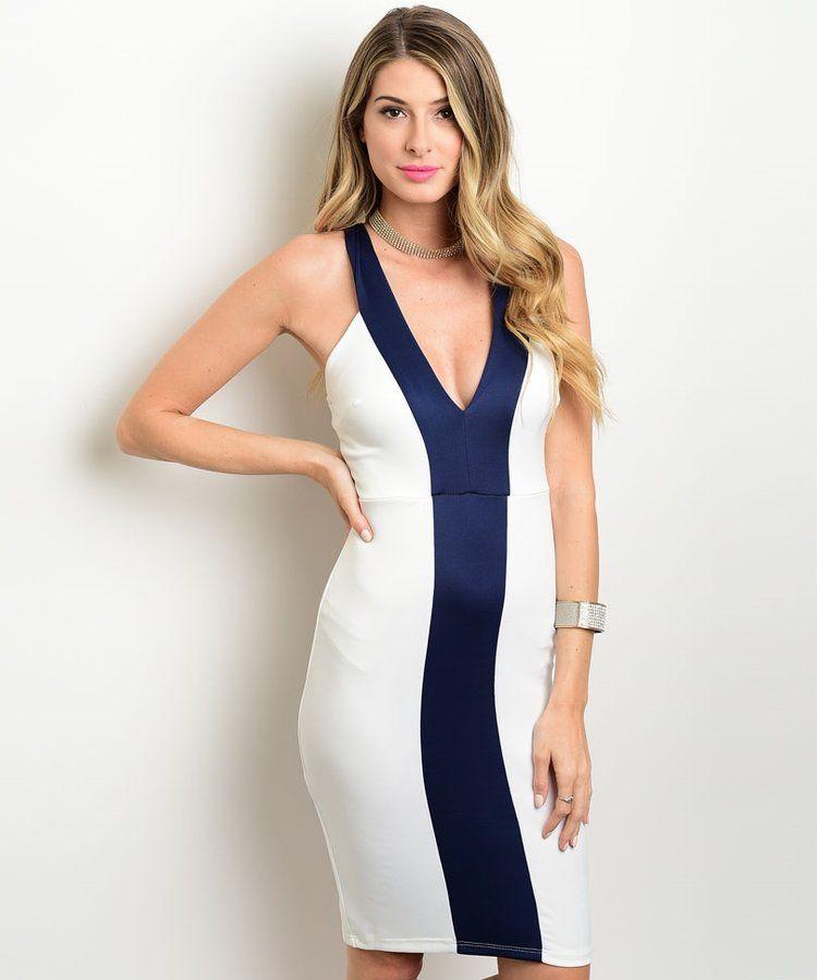 6fc2d346cd14 Comprar vestido azul rayas por internet | #Cool Photos | Dresses ...