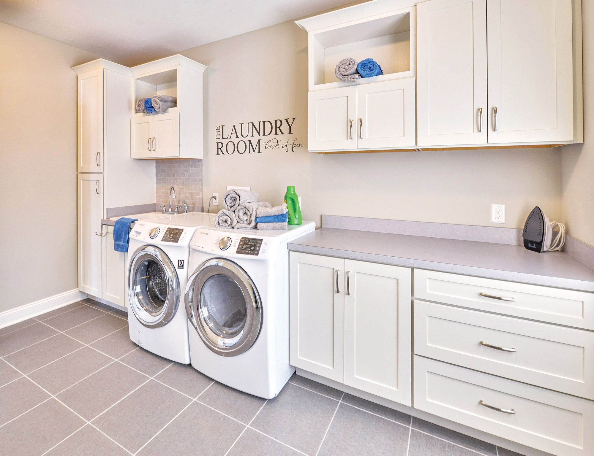Good Spacious And Bright Laundry Room Custom Built With CliqStudios.com Shaker  Style Cabinets. Shown