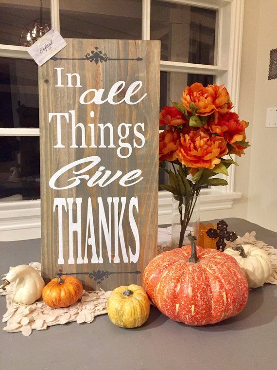 12 X24 In All Things Give Thanks 2017 Fall Collection Fall Decor Decor Fall Crafts