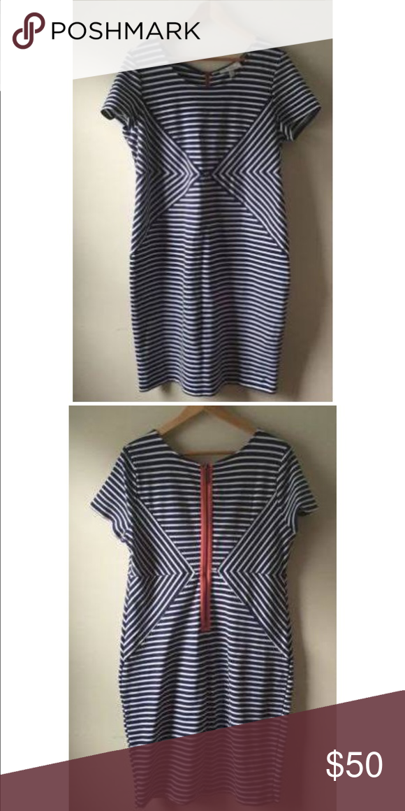 Jessica Simpson stripe maternity dress Very nice quality material and looks great on! Perfect for evening or baby shower! Worn twice. Jessica Simpson Dresses Midi