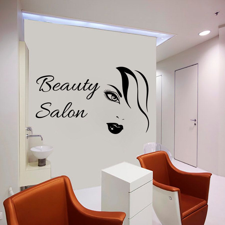 Art Decor Sexy Woman Wall Decals Beauty Salon Decorative Wall - Custom vinyl wall decals for hair salonvinyl wall decal hair salon stylist hairdresser barber shop