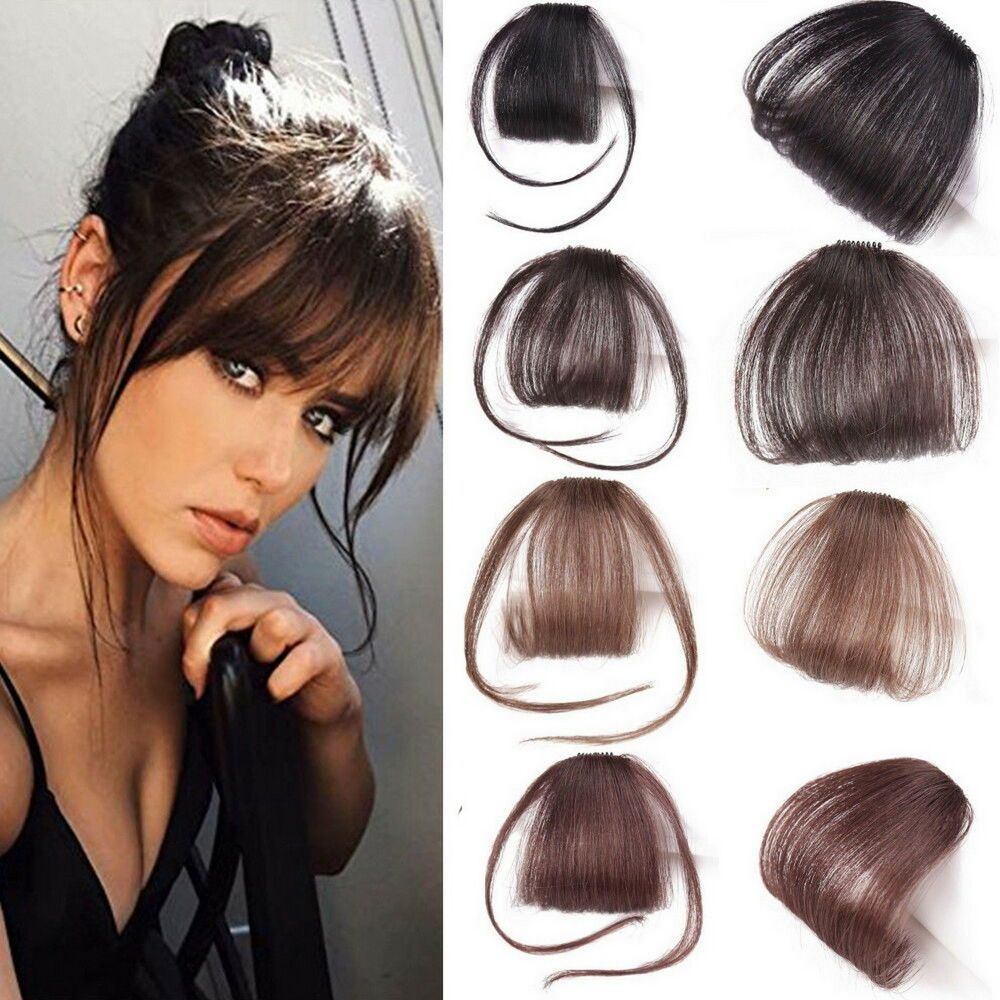 Thin Neat Air Bangs Remy Human Hair Extensions Clip In On Fringe Front Hairpiece Ebay Human Hair Extensions Clip Human Hair Extensions Clip In Hair Extensions