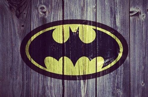 Batman Symbol Painted Onto Wood Planks Cute For Little Boys Room