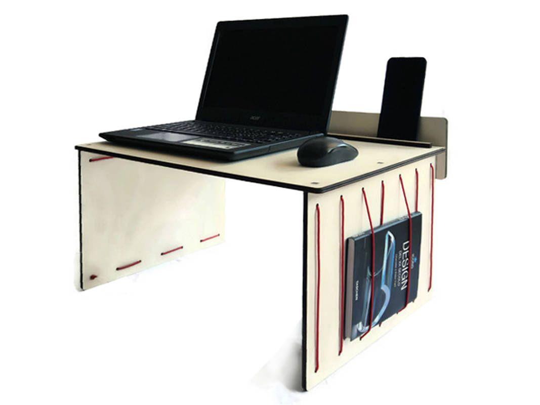 Wood Bed Desk Standing Portable Workstation Sofa