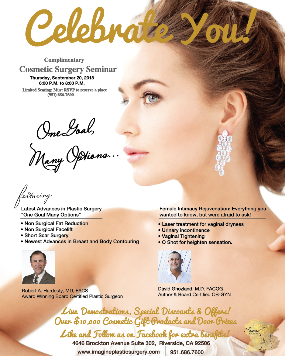 Free Cosmetic Surgery Seminar! Over $10,000 in prizes, guest