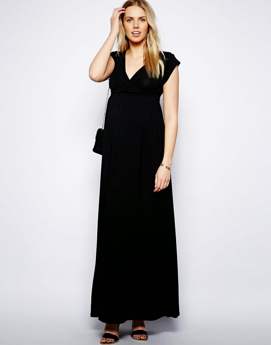 752cc6cfb39ed Modest black maternity dress with sleeves | Follow Mode-sty for stylish  modest clothing #nolayering