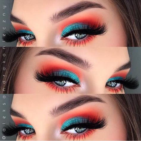Photo of talk about coral! this is a gorgeous eye makeup job