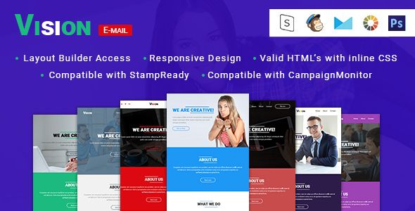 Vision Responsive Email Template Stampready Builder With 8