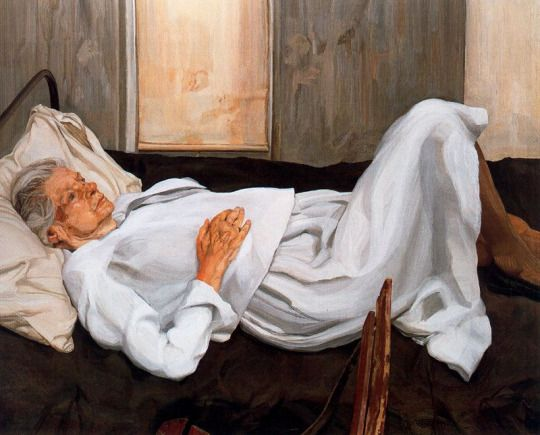Lucien Frued, The Painter's Mother, 1984, Oil on canvas.