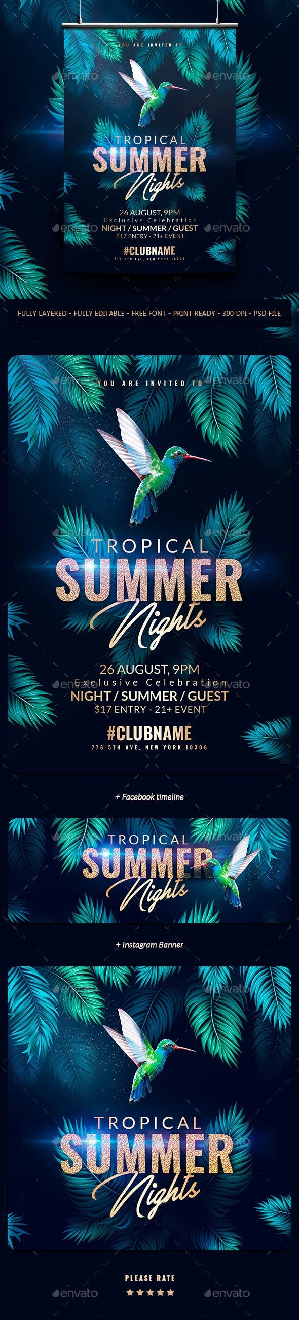 With This Flyer Template  You Can Advertise Your Summer Or