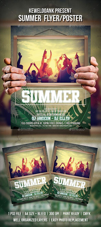 Summer Flyer / Poster Flyer template, Template and Summer