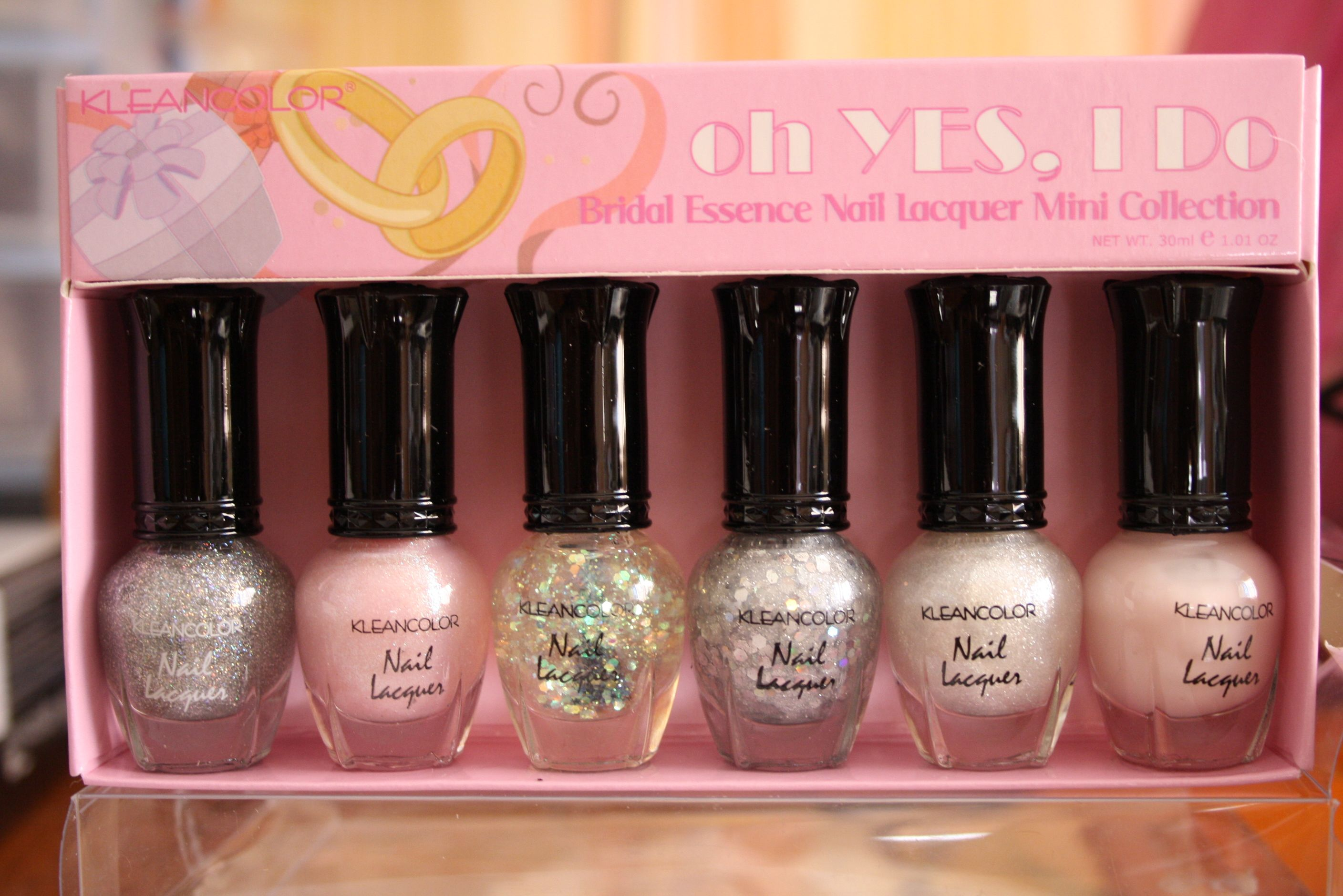 KLEANCOLOR Nail Lacquer Mini Collection - oh YES, I Do Bridal ...