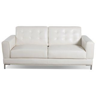 [Myer Leather-Like Fabric Sofa - Cream]