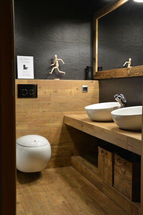 Znalezione Obrazy Dla Zapytania Czarna łazienka Z Drewnem Homey