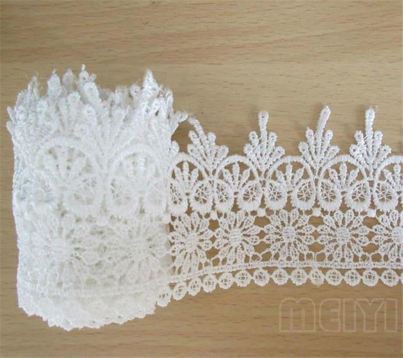 10 Yards Vintage Lace Edge Trim Ribbon Embroidered Applique Sewing Craft White
