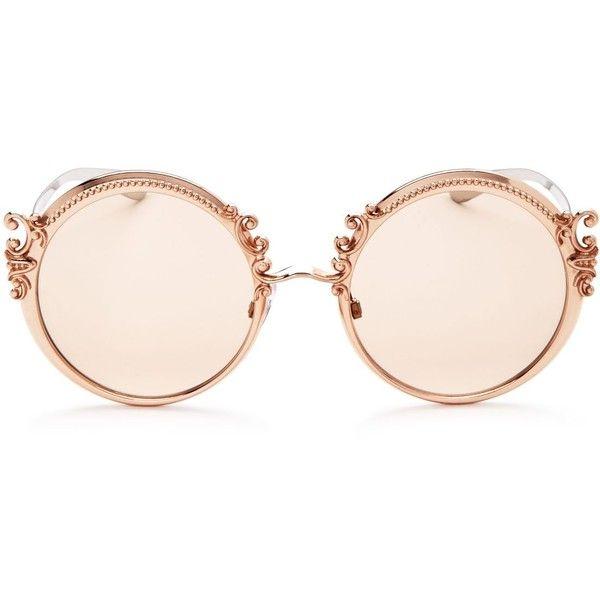 f18fb55b0d32 Dolce   Gabbana Embellished Round Sunglasses
