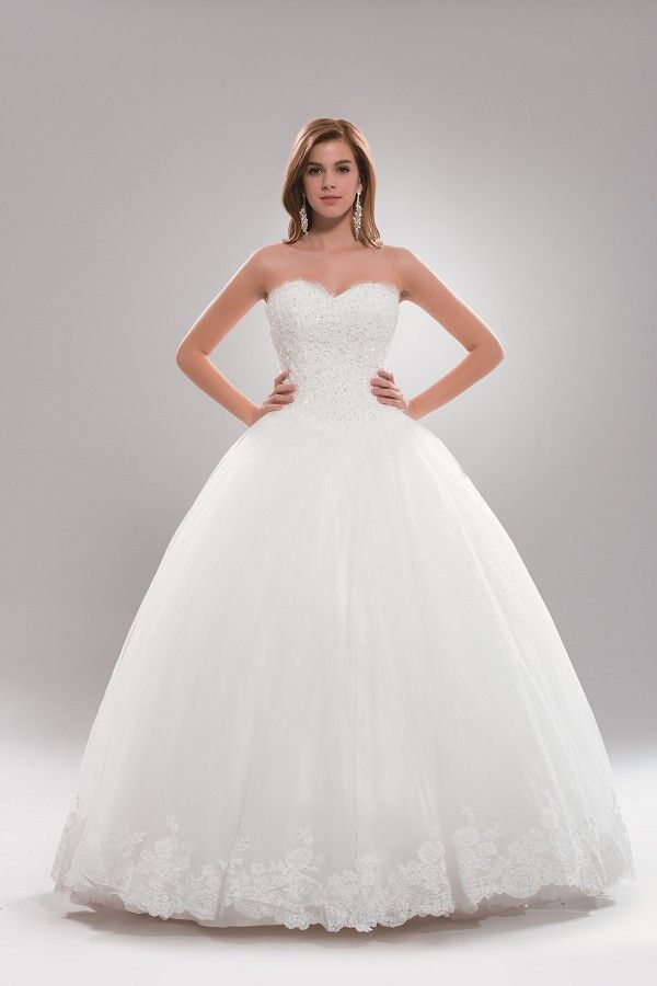 Strapless princess ballgown wedding dress- plus size AB6719 | Royal ...