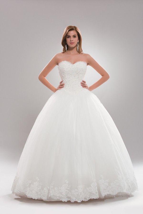 Strapless Princess Ballgown Wedding Dress Plus Size AB6719