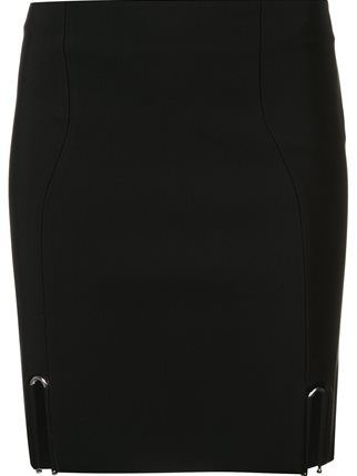 Mugler side slit mini skirt