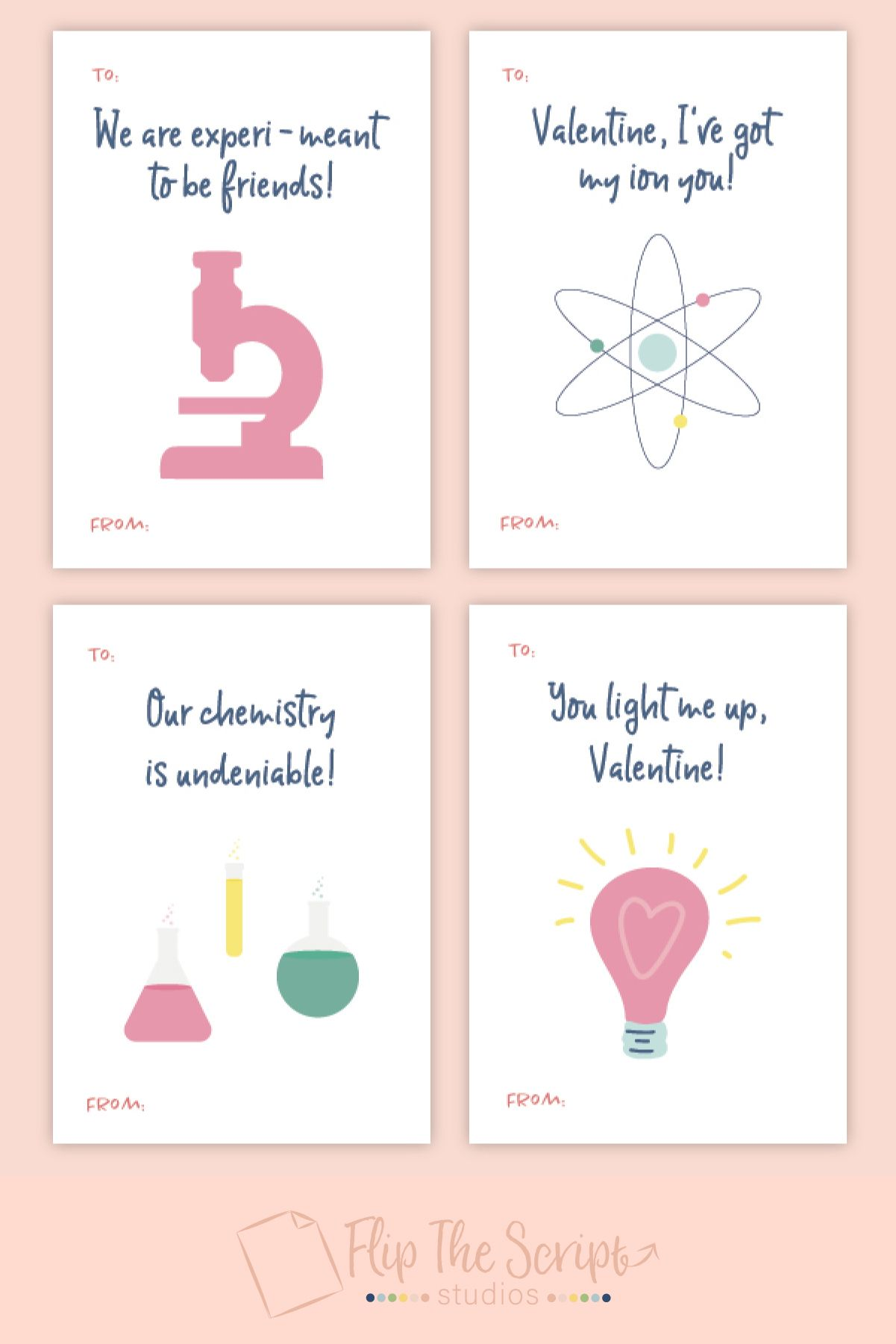 Science Valentine Card Printable Valentines Classroom Etsy Teacher Valentine Cards Science Valentines Valentines School