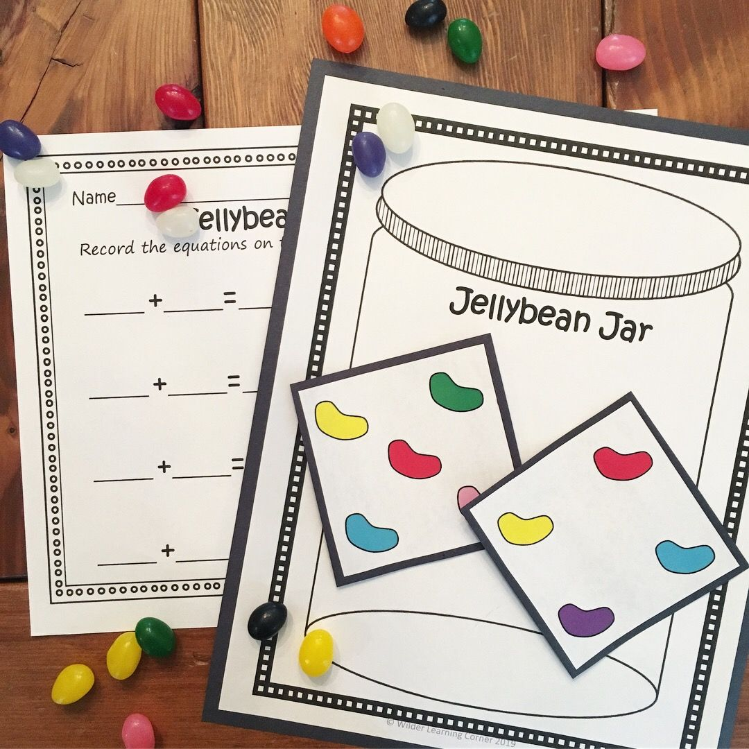 Addition And Subtraction Math Centers Jellybean Theme