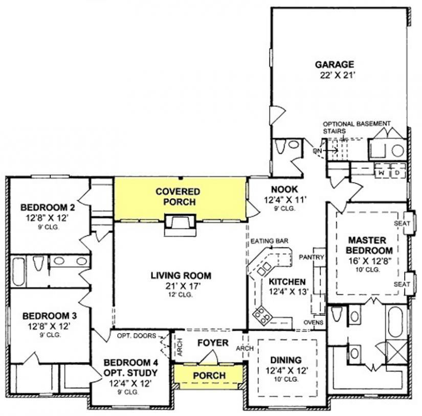 655859 traditional 3 bedroom 2 5 bath with split floor for Split floor plans