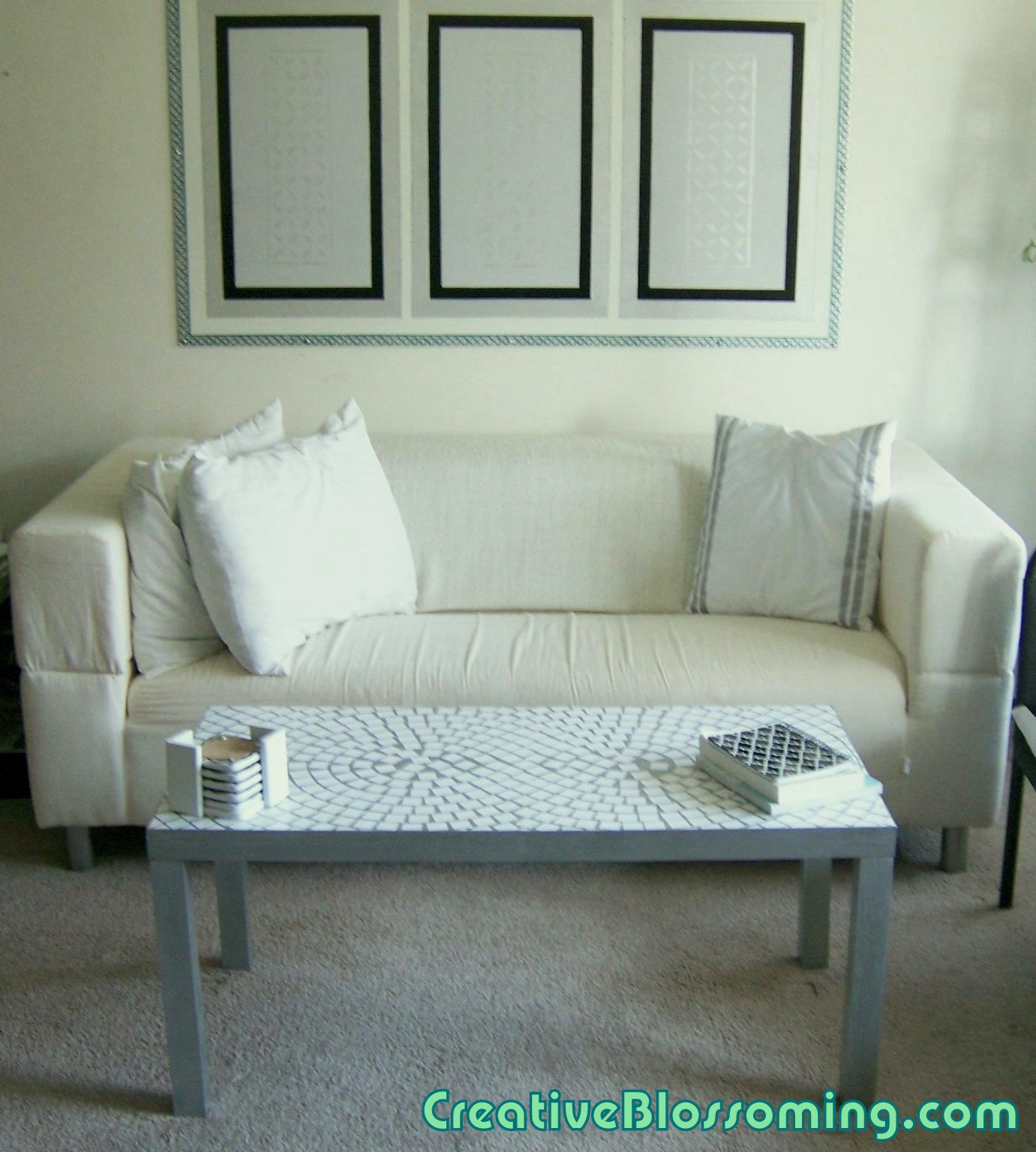 DIY Parsons Coffee Table Makeover With Gloss Mod Podge