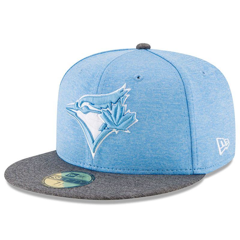 buy popular 91166 c5916 ... coupon for toronto blue jays new era 2017 fathers day 59fifty fitted hat  heather blue f6870