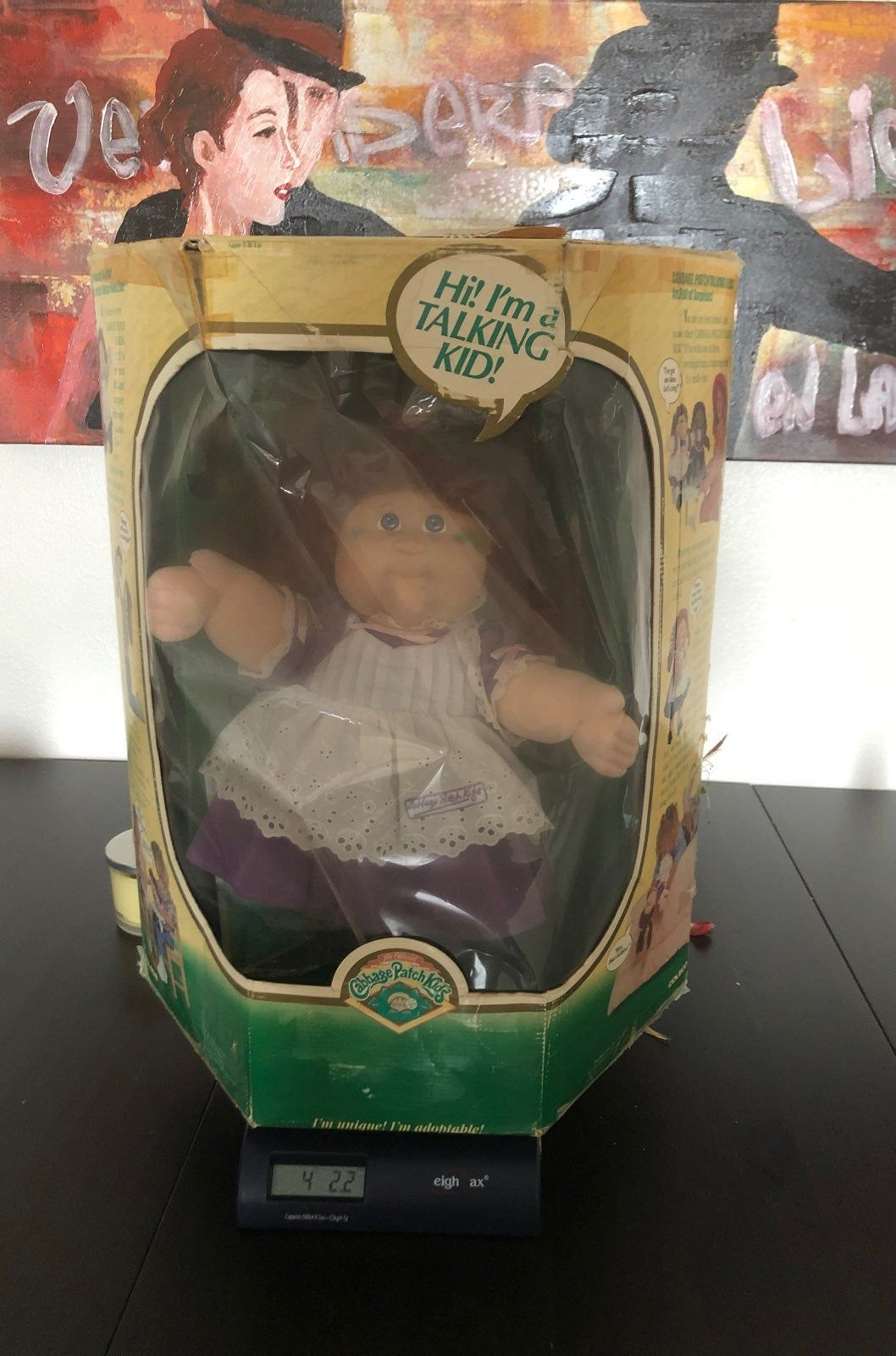 1987 Cabbage Patch Doll In Box Comes With Birth Certificate And Cup She Holds In Hand Has Not Cabbage Patch Kids Dolls Cabbage Patch Dolls Cabbage Patch Kids