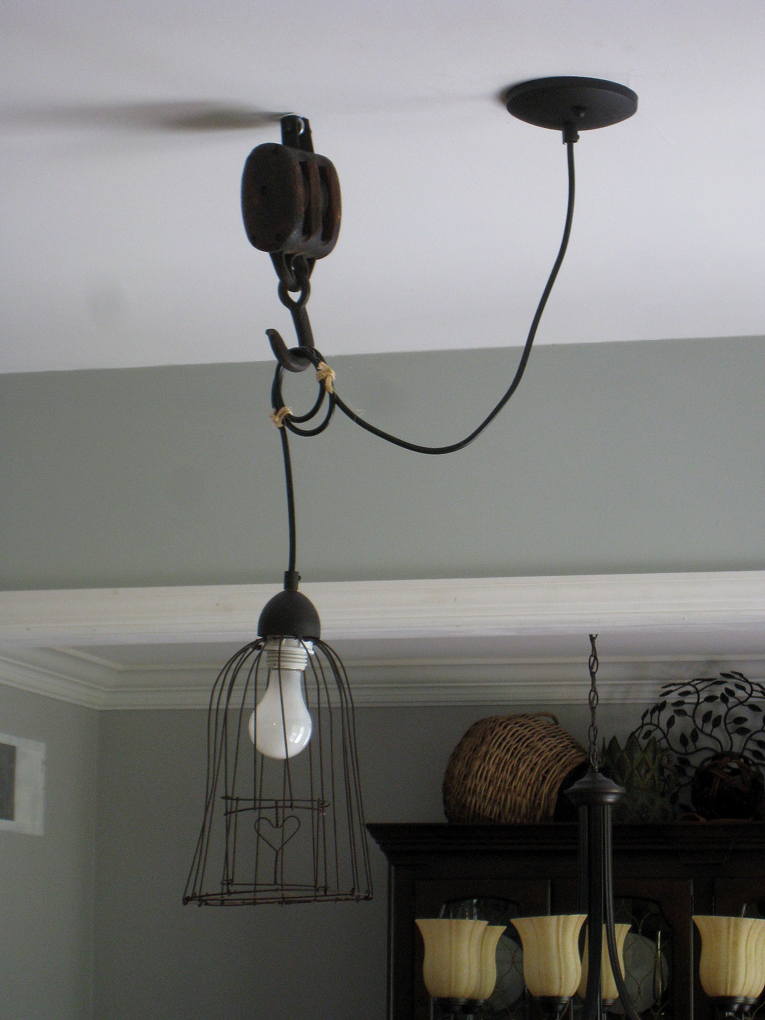 Before And After Kitchen Pendant Light Rustic Lighting Pulley Light Pendant Light