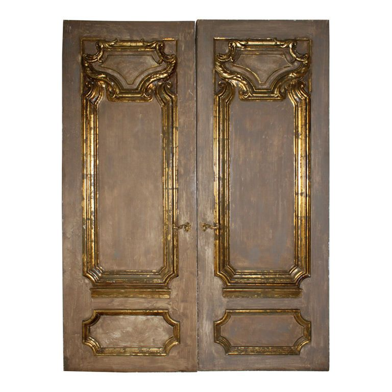Pair of French Painted \u0026 Parcel Gilt Doors C. 1940\u0027s  sc 1 st  Pinterest & Pair of French Painted \u0026 Parcel Gilt Doors C. 1940\u0027s | Modern door ...