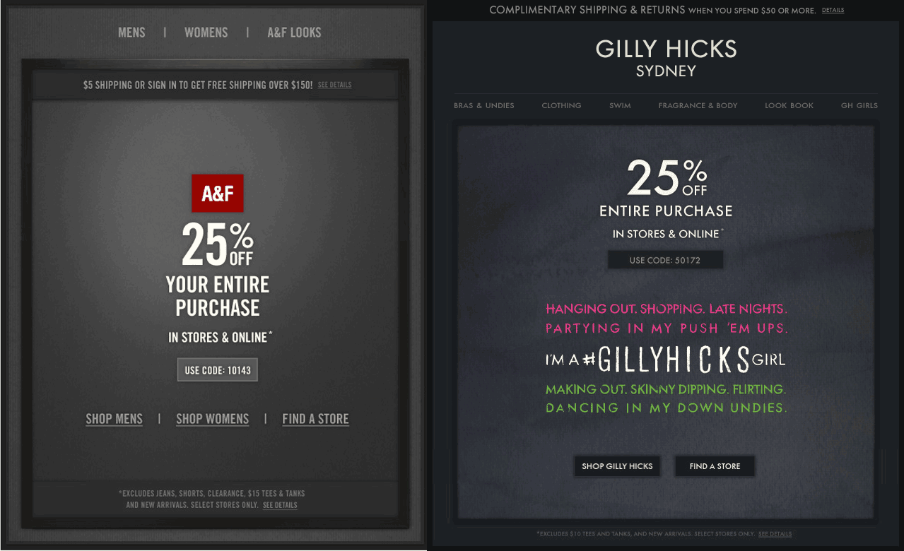 25 Off The Tab At Abercrombie Fitch Also Gilly Hicks Or Online Via Promo Codes 10143 50172 Coupon Via The Coupons App Coupon Apps App Gilly Hicks