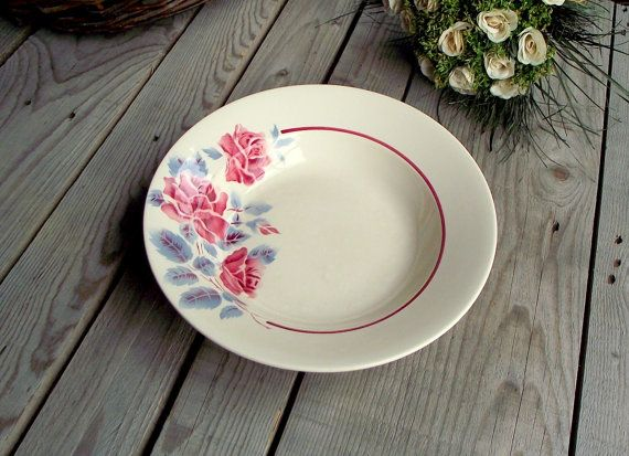 French Vintage Plate  Ceramic Serving Platter by MyFrenchBricABrac