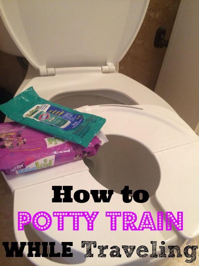 How to Potty Train While Traveling! Do you throw in the towel (or should I say toilet paper) and say will continue this when we return? That isn't necessary. Follow these steps to continue potty training on vacation!