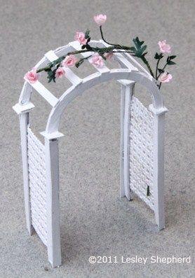 Make a Printable Miniature Garden Arbor For Dollhouse or Wedding Decor