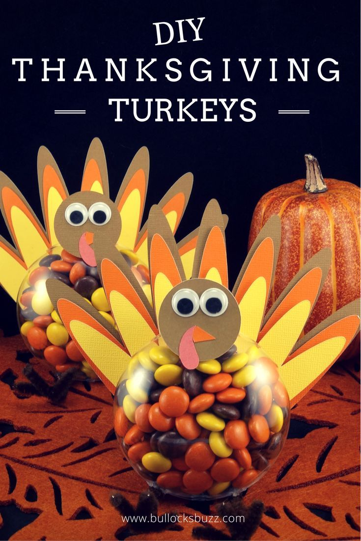DIY Thanksgiving Turkey Treats Tutorial