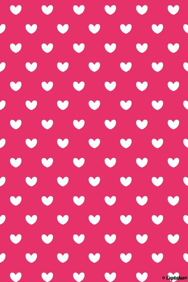 Pink Hearts Wallpaper Stencil Pattern Shelves Heart