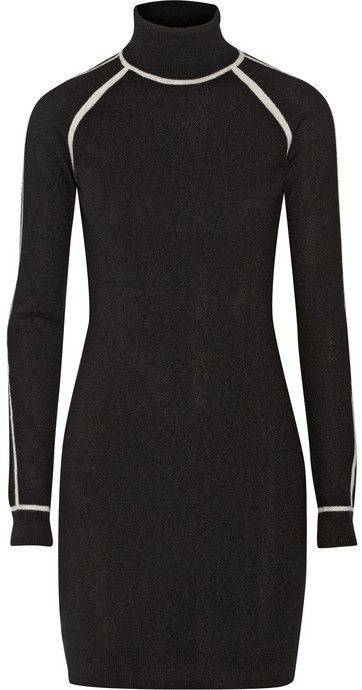 a5345cdc79 The perfect modern sweater dress - Karl Lagerfeld Nora cashmere turtleneck  sweater dress