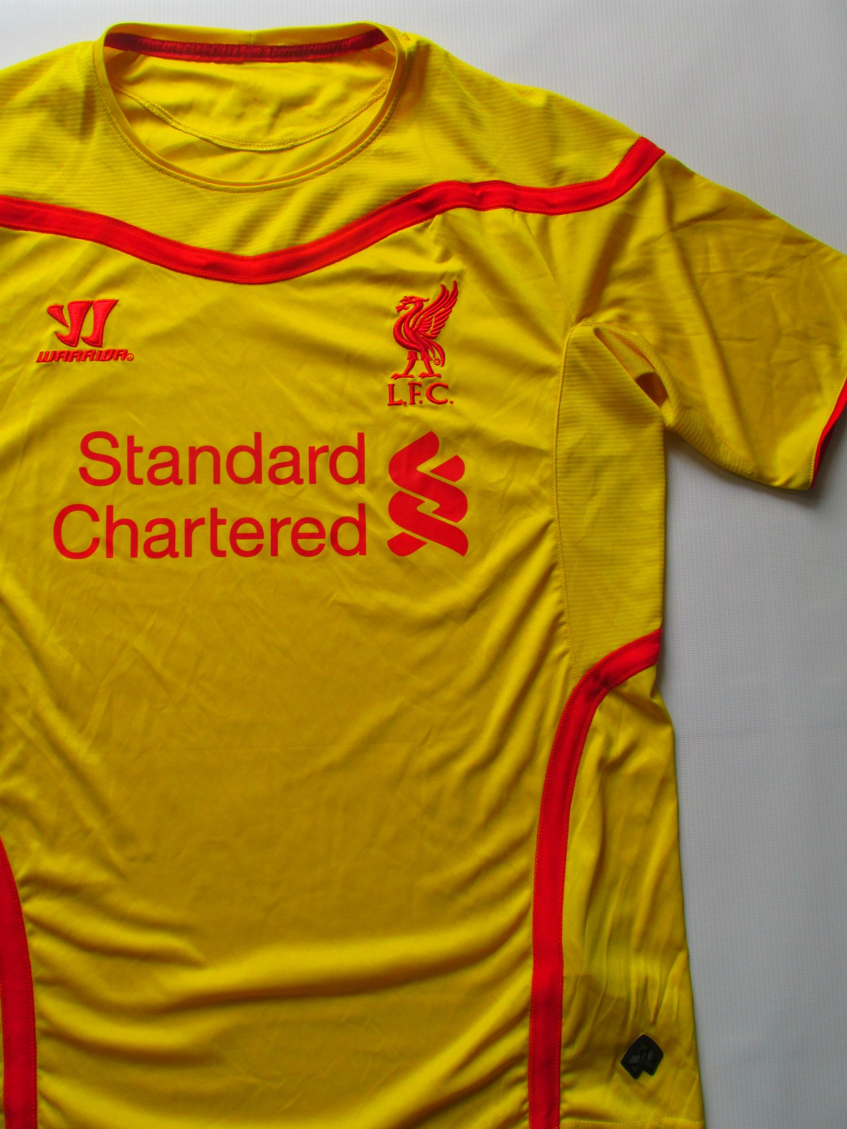 046dd8dedc8 Details about LIVERPOOL 2014 2015 AWAY FOOTBALL SHIRT SOCCER JERSEY  CAMISETA WARRIOR LFC (M)