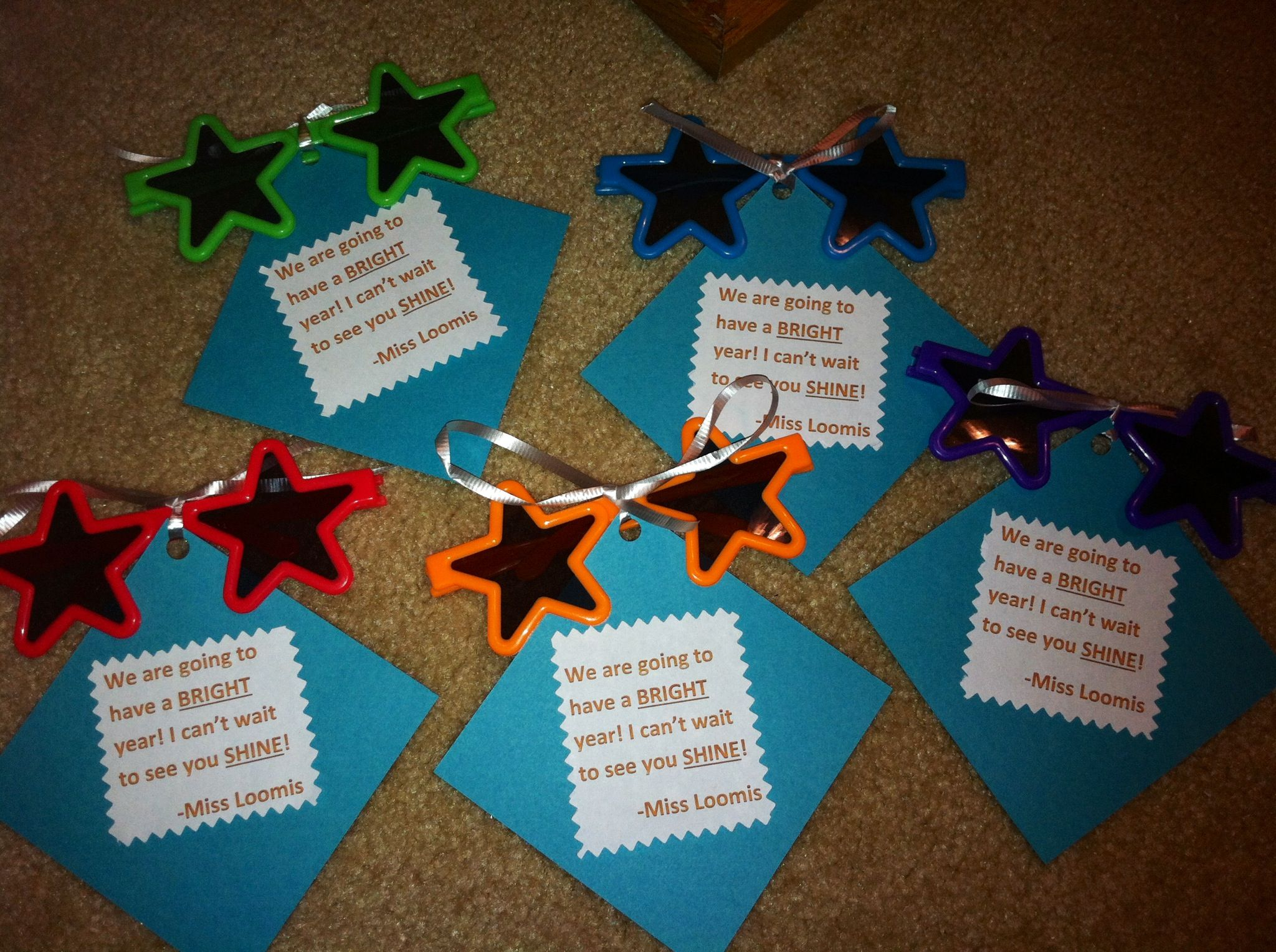 Classroom Decor Stars ~ First day of school gift for my rock star theme classroom