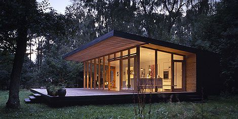 Small contemporary building and low cost house 1 for Low cost cabin plans