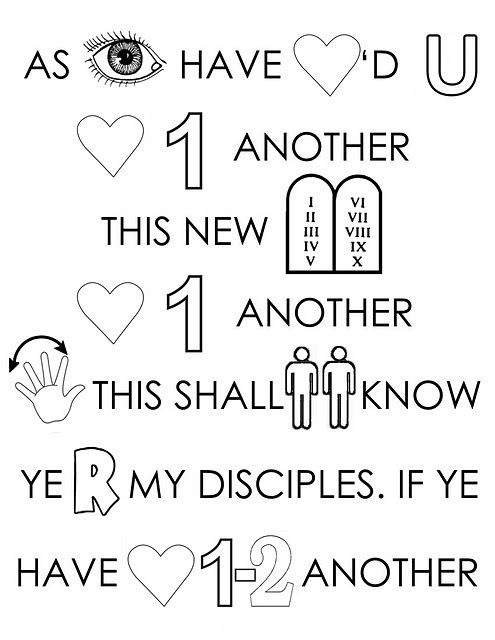 Love One Another Coloring Page | Jesus StoryBook Bible ... | Love ...