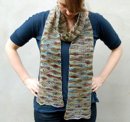 Willow Scarf Knit With 1 Skein Of Claudia Hand Painted