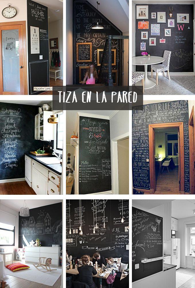 Inspiracion Pizarra Decoracion Pinterest Pizarra Obras De - Pizarra-decoracion-pared
