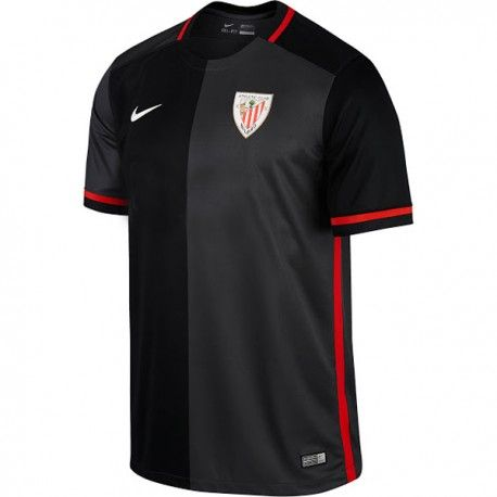 2ª Camiseta Athletic Club de Bilbao 2016 2017 Negra  a0d405e4daa0a