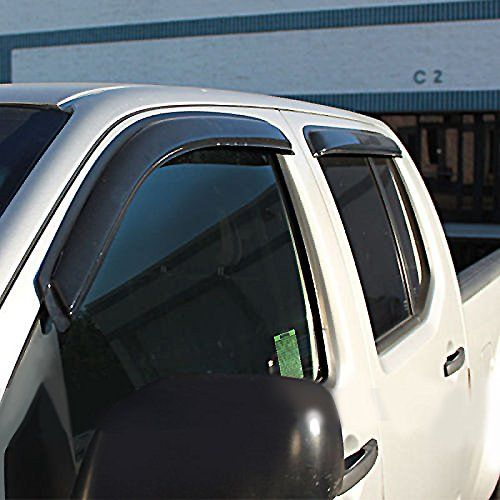 Vioji 4pcs Front Rear Smoke Sun Rain Guard Vent Shade Window Visors Fit 92 00 Chevy Gmc C K 1500 2500 3500 Crew Cab Window Deflectors Crew Cab Window Shades
