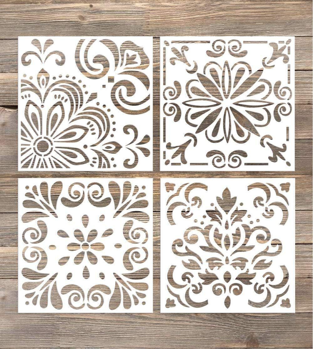 Five Easy Ways To Add Farmhouse Style To A Kitchen Farmhouse Kitchen Ideas Stencil Decor Wall Stencil Patterns Stencil Painting