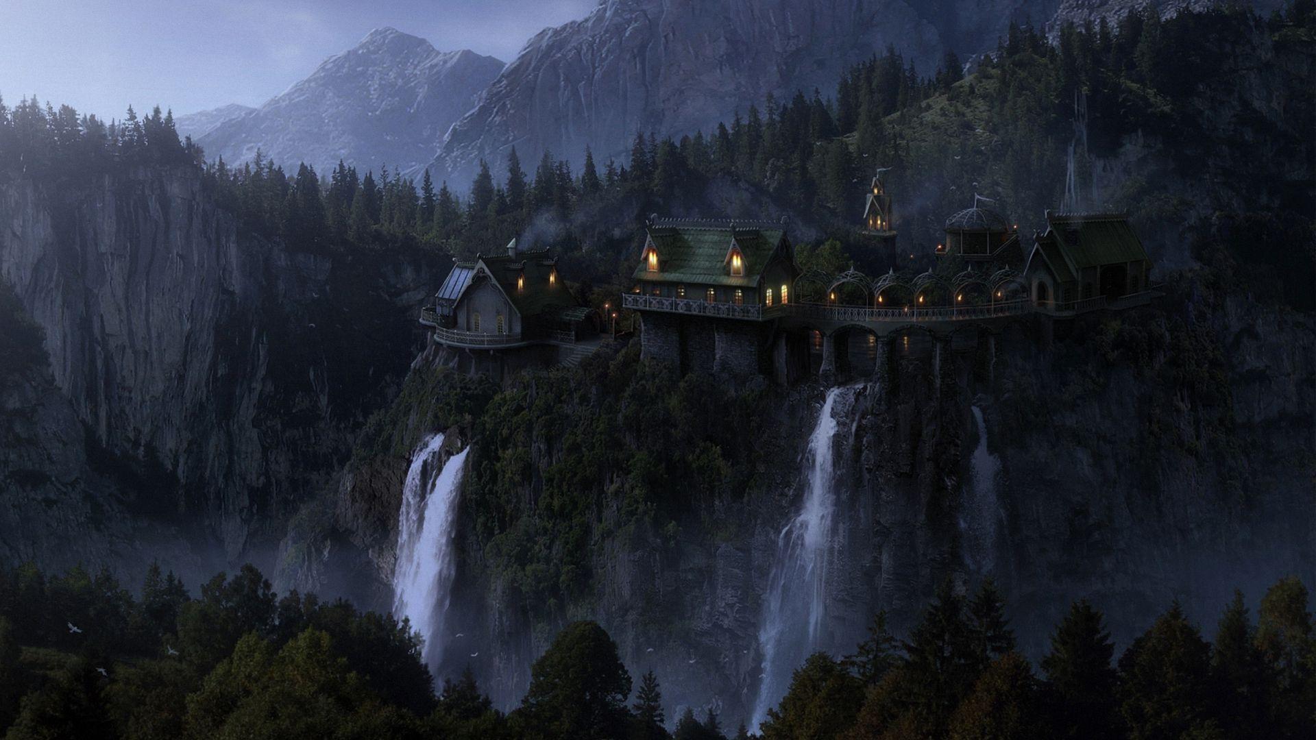 1920x1080 Fantasy Lotr Hd Wallpapers 1080p Landscape Wallpaper Fantasy Landscape Fantasy Forest